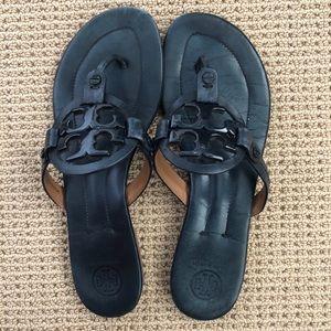 Tory Burch Miller Sandal - Navy- Size 8.5